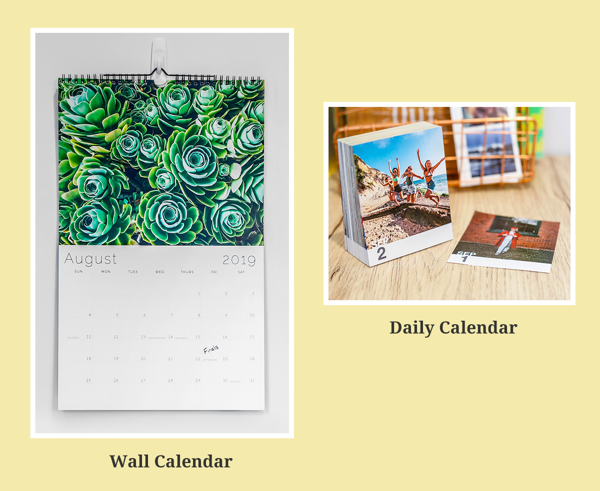 Daily Calendars and Wall Calendars