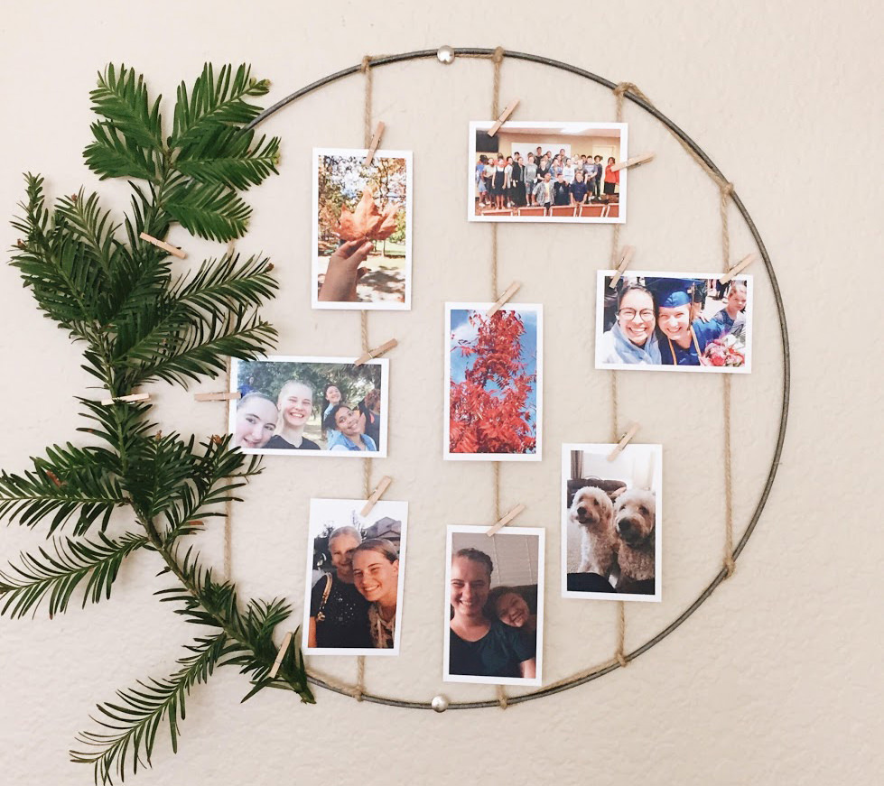 DIY Rustic Display - Photo Wreath