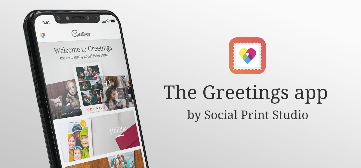 The Greetings app by Social Print Studio