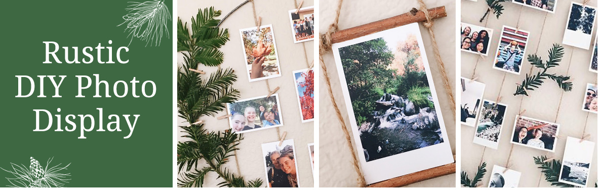 Rustic DIY Photo Display