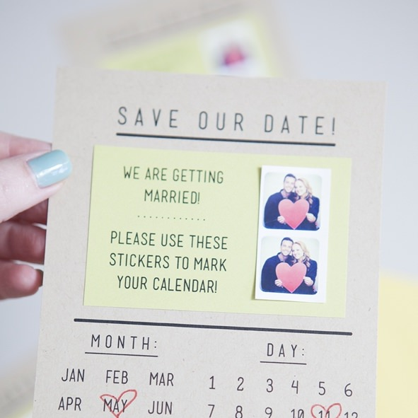 DIY Sticker Save the Dates