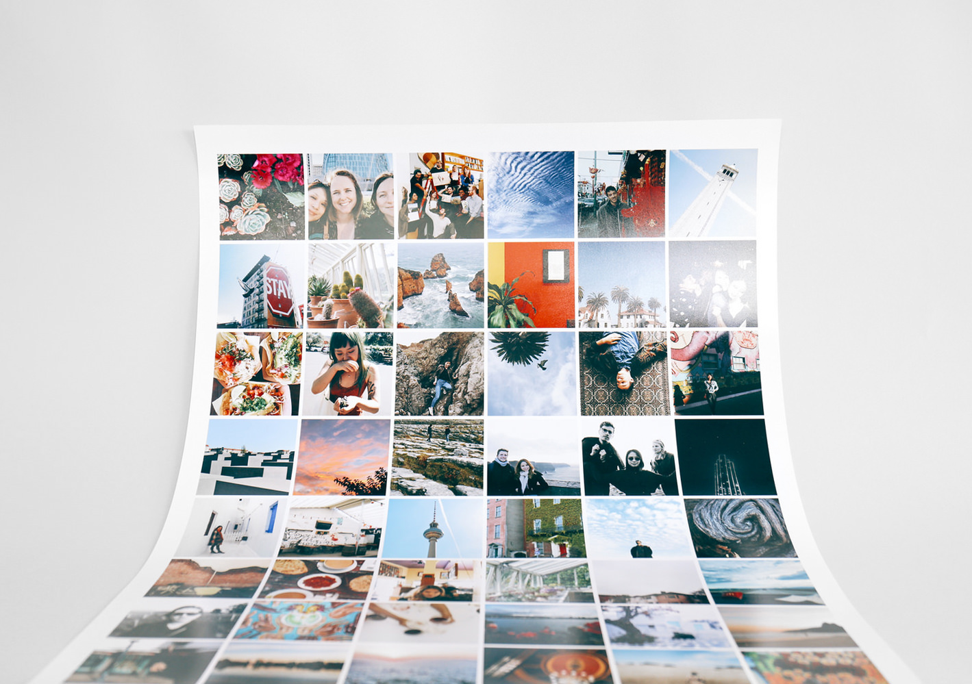 Instagram Grid Poster Print Your Instagram Photos On A Poster Social Print Studio